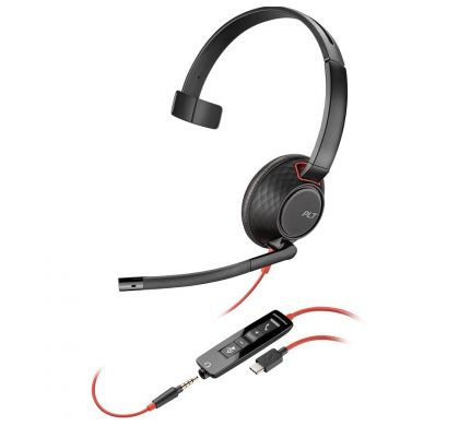 PLANTRONICS Blackwire 5210 Wired Mono Headset - Over-the-head - Supra-aural