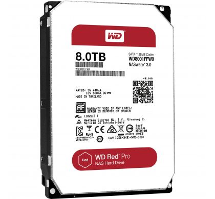 "WESTERN DIGITAL Red Pro 8001FFWX 8 TB 3.5"" Internal Hard Drive - SATA"