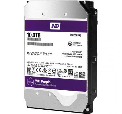 """WESTERN DIGITAL Purple 100PURZ 10 TB 3.5"""" Internal Hard Drive - SATA"""