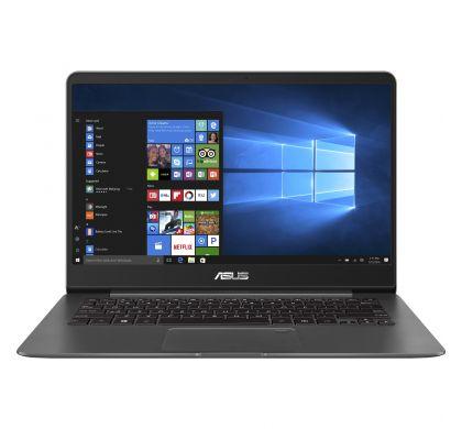 """ASUS ZENBOOK UX430UN-GV060R 35.6 cm (14"""") LCD Notebook - Intel Core i7 (8th Gen) i7-8550U Quad-core (4 Core) 1.80 GHz - 16 GB LPDDR3 - 512 GB SSD - Windows 10 Pro 64-bit - 1920 x 1080 - Tru2Life - Quartz Grey FrontMaximum"""