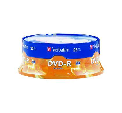 Verbatim DVD Recordable Media - DVD-R - 16x - 4.70 GB - 25 Pack Spindle