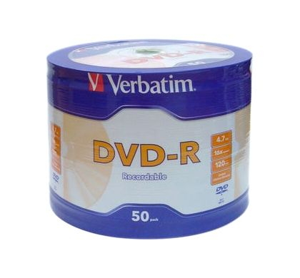 Verbatim DataLifePlus 95203 DVD Recordable Media - DVD-R - 16x - 4.70 GB - 50 Pack Spindle