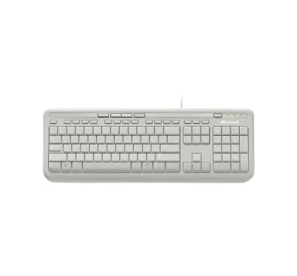 Microsoft 600 Keyboard - Cable Connectivity - White - Retail